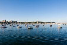 Free Half Water, Boats And Sky Royalty Free Stock Images - 4082059