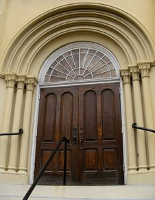 Free 1856 Church Entrance With Design Details Royalty Free Stock Images - 4082689