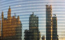 Free Downtown Buildings Reflected Stock Image - 4082701