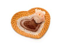 Valentine S Day Gift Dish In Shape Of Heart Stock Images