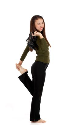 Free Slim And Fit Young Lady Stock Images - 4083294
