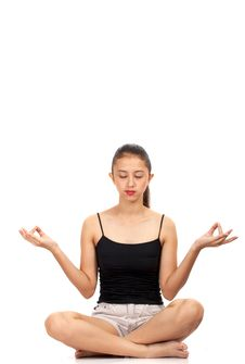 Free Girl Meditating Stock Photography - 4083302