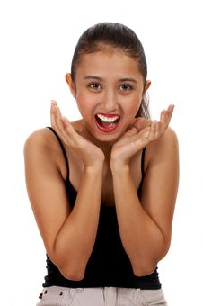 Free Surprised Teenage Girl Stock Photo - 4083310