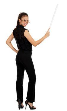 Free Female Instructor Holding Royalty Free Stock Photos - 4083378