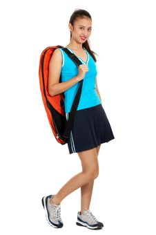 Free Girl With The Backpack Royalty Free Stock Image - 4083556