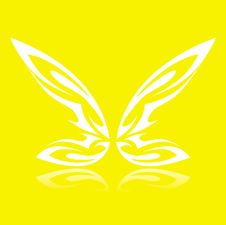 Free Butterfly On The Yellow Square Royalty Free Stock Image - 4084596