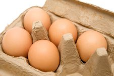 Free Brown Eggs Royalty Free Stock Photo - 4085015