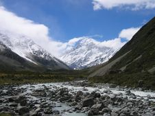 Free Mount Cook NP Royalty Free Stock Image - 4085176