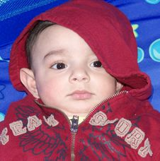 Free Baby With Hood Stock Photos - 4085233