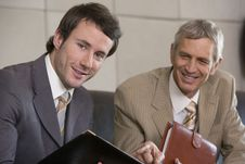 Free Young Businessman With Colleague Stock Image - 4086051