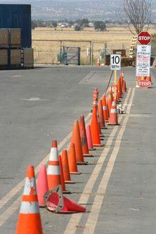 Free Row Of Cones Stock Image - 4086111
