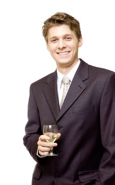 Free Businessman With Champagne Royalty Free Stock Photos - 4086198