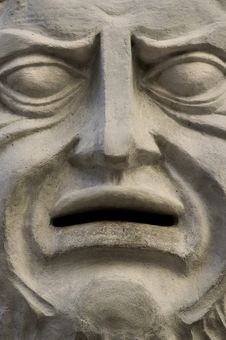 Free Carved Stone Face Mask Royalty Free Stock Photography - 4086397