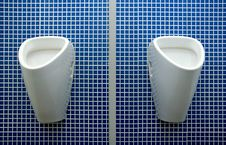 Free Toilet With Blue Background Stock Image - 4087681