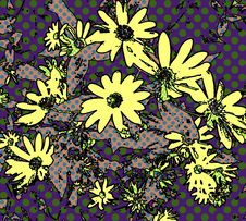 Free Pop Art Daisy Wallpaper Royalty Free Stock Photo - 4088185