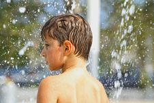 Free Boy Playing With Water Royalty Free Stock Photo - 4088455