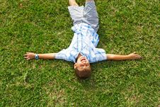 Free Lying On The Grass Royalty Free Stock Image - 4088726