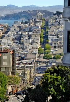 Free San Francisco From Lombard Street Royalty Free Stock Images - 4088849