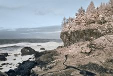 Free Northern California Coast In Infrared Stock Image - 4088921