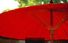 Red Japanese Umbrella Stock Photos