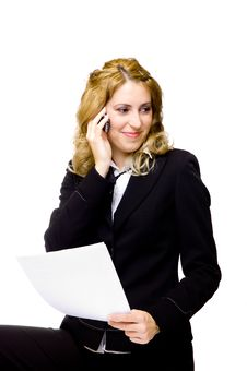 Free Businesswoman On The Phone Stock Image - 4089381