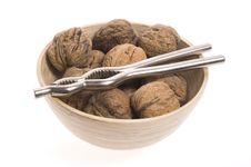 Walnuts And Nutcracker Royalty Free Stock Image
