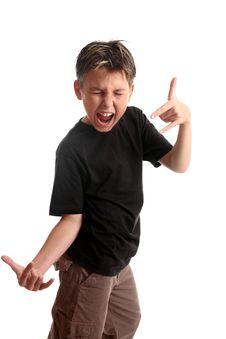 Expressive Boy Stock Photos