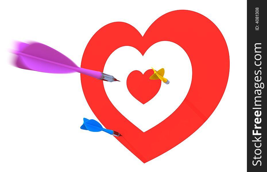 Love valentine dart