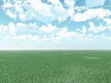 Free Beautiful Landscape With Puffy Clouds Royalty Free Stock Photos - 4090218