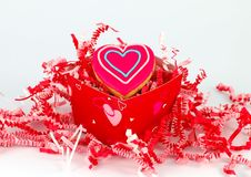 Valentine S Cookie Gift Box Stock Photos