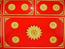 Free Red & Gold Ornamental Backdrop Stock Photos - 4090983