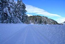 Free Winter Rural Roads 3 Royalty Free Stock Photos - 4091068