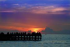 Enjoy Sunset Or Sunrice Stock Image