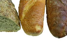 French Bread And Rye Bread Stock Photos