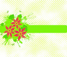 Free Floral Background Vector Royalty Free Stock Photography - 4091487