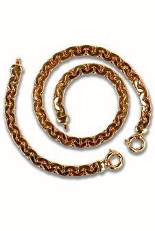Free Gold Bracelet Royalty Free Stock Photos - 4091608