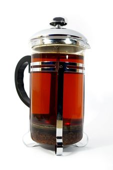 Kettle Whith Black Tea Royalty Free Stock Photography