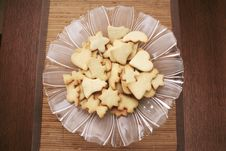 Free Cookies On A Glass Plate Stock Photography - 4093822