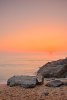 Sunset By The Ocean Royalty Free Stock Photography