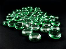 Free Green Shiny Stones Royalty Free Stock Photos - 4095458