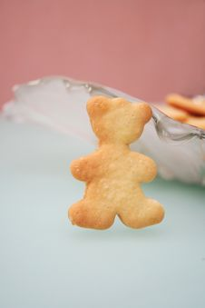Free Cookies In The Form Of A Bear Stock Image - 4095591