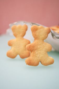 Free Cookies In The Form Of Two Bears Stock Image - 4095821
