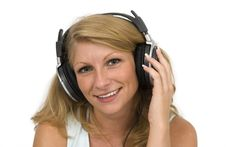 Free A Woman Listens To Music. Royalty Free Stock Photo - 4096015