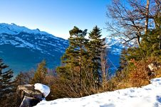 Free Mountain Scene Royalty Free Stock Photography - 4096137