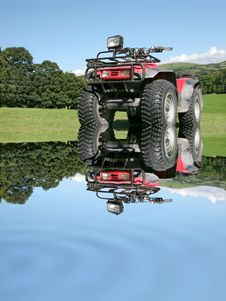 Free All Terrain Quad Bike Royalty Free Stock Photography - 4097177