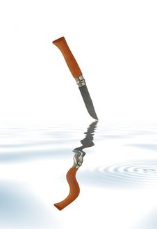 Free Knife Over Water Stock Photo - 4097210
