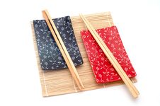 Black And Red Sushi Set Royalty Free Stock Images
