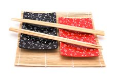 Black And Red Sushi Set Royalty Free Stock Photos