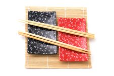 Black And Red Sushi Set Stock Image