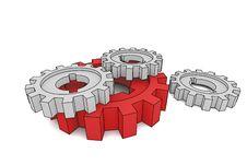 Free Isolated Cogwheels Royalty Free Stock Image - 4099156